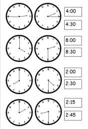 clock match